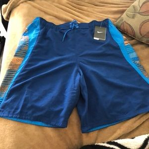 Men's Nike bathing suit size L  Blue and orange